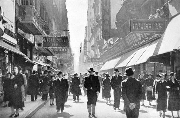 La calle Florida en 1937 - Buenos Aires