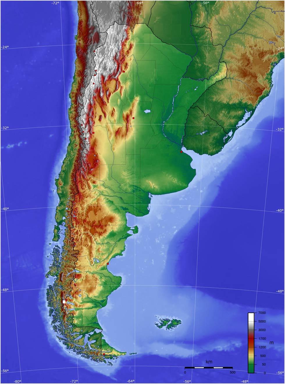Relief de l'Argentine