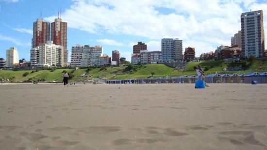 Mar del Plata vue depuis la Playa grande