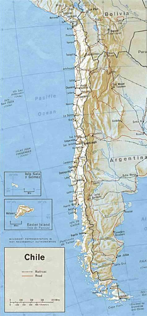 CARTE RELIEF - CHILI