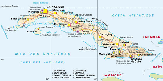 Carte Amerique Latine Cuba.Cuba Carte Geographique