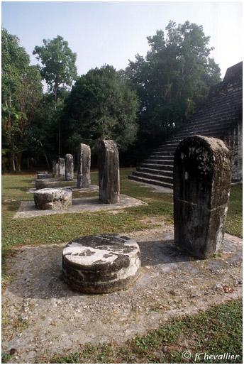 Stèles mayas à Tikal