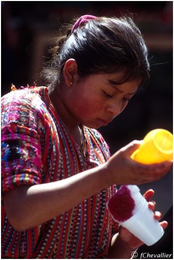 Marchande de glace au Guatemala