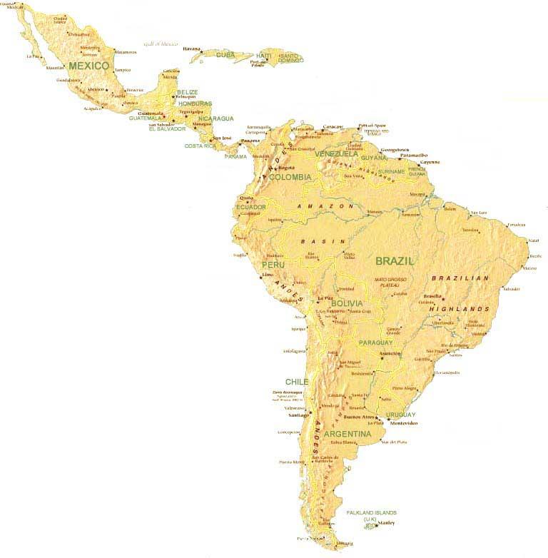 Berühmt Carte Amérique latine DH73