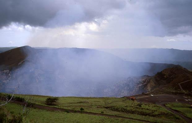 Le crater du volcan de Masaya